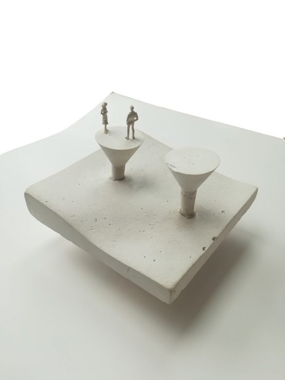 • Revealing two of the concrete mushrooms