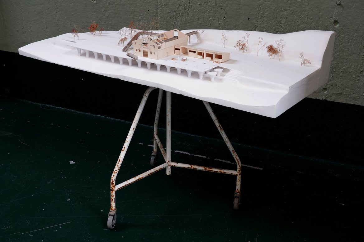 """Final model on site of the new """"Forsamlingshus"""""""