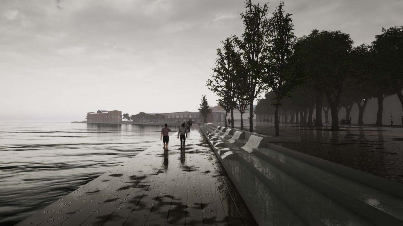 Seafront walkway