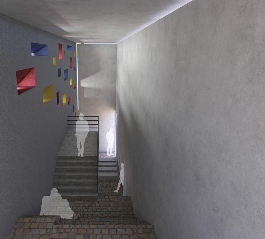 Interior view inside the Light Hall
