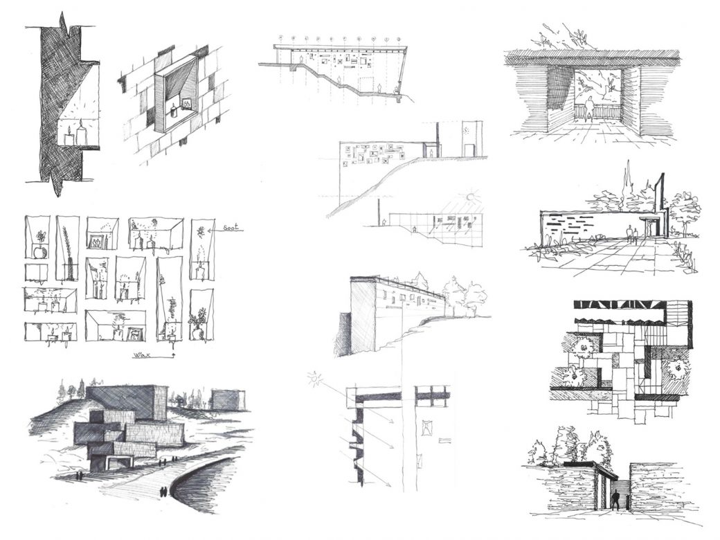 Compilation of selected preliminary sketches