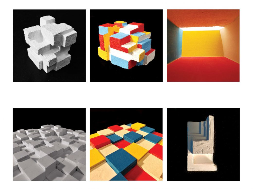 Compilation of model studies: space, colour and light