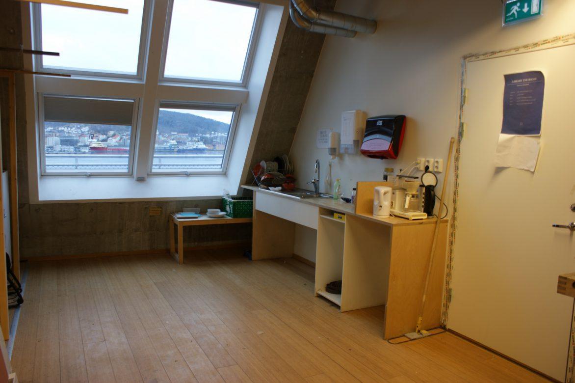 The kitchen area upper floor