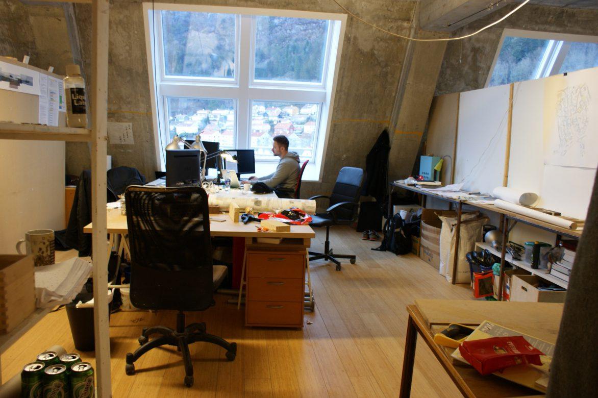 studio in upper floor