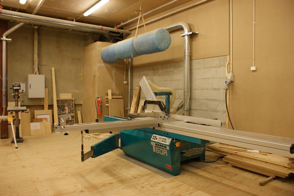part of wood workshop