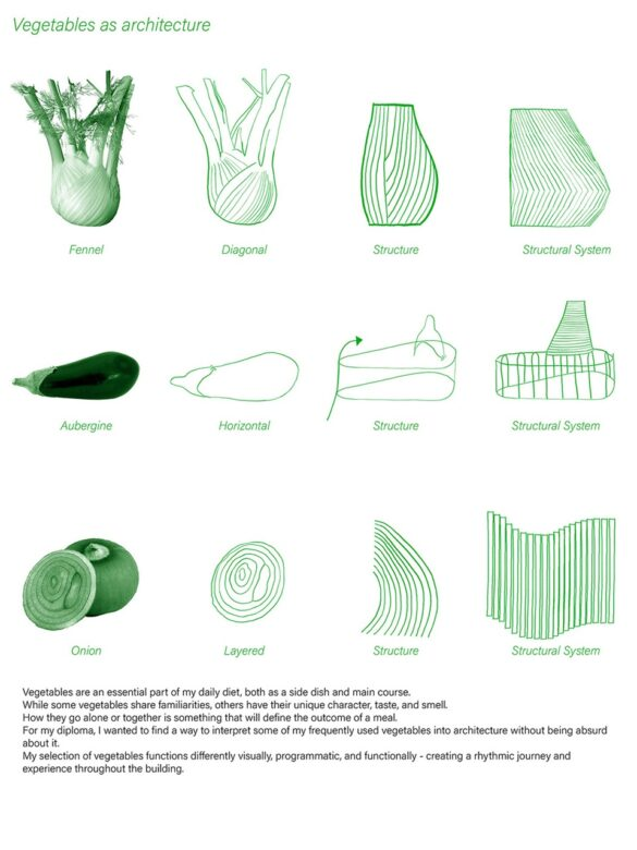 Vegetables as architecture