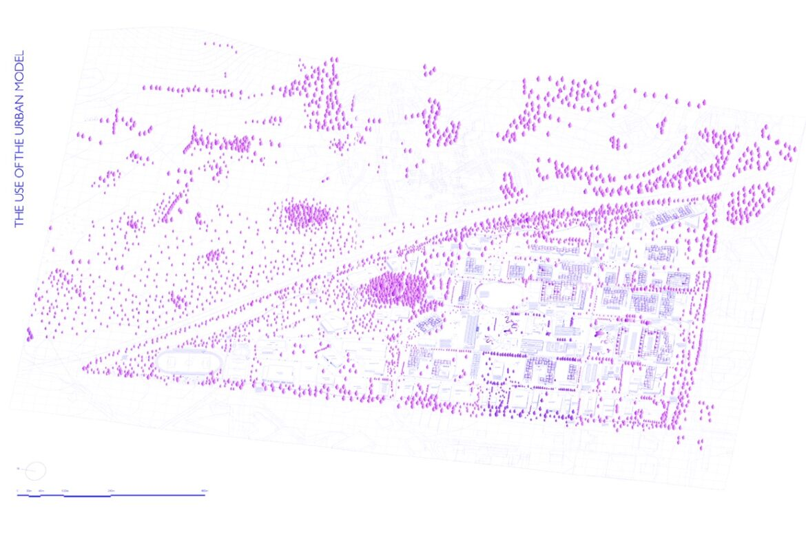 Axonometric view of the transformed Forus area