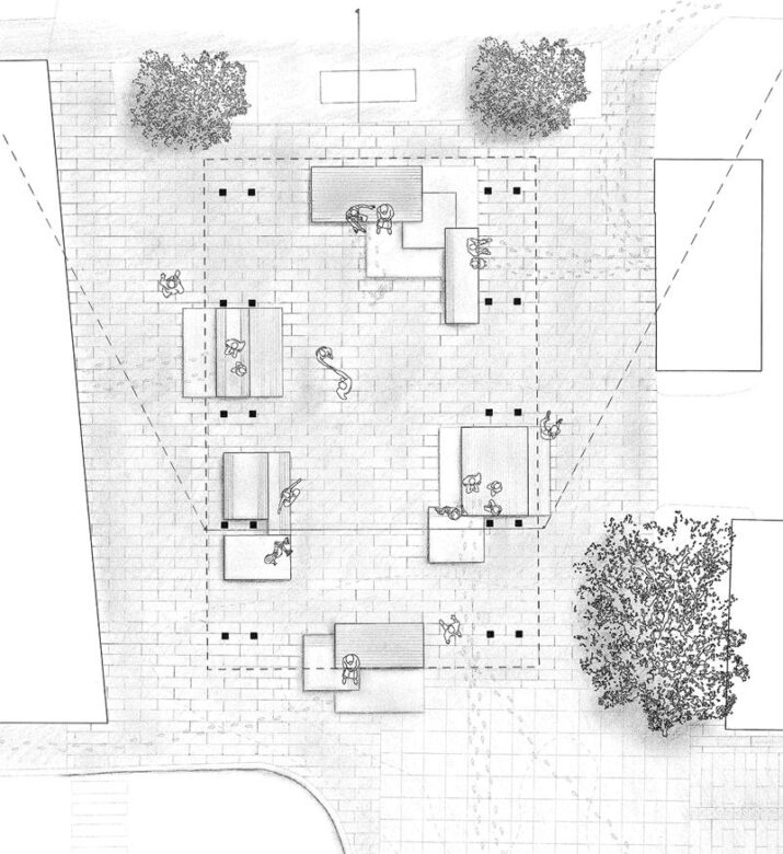 The Square. Plan drawing