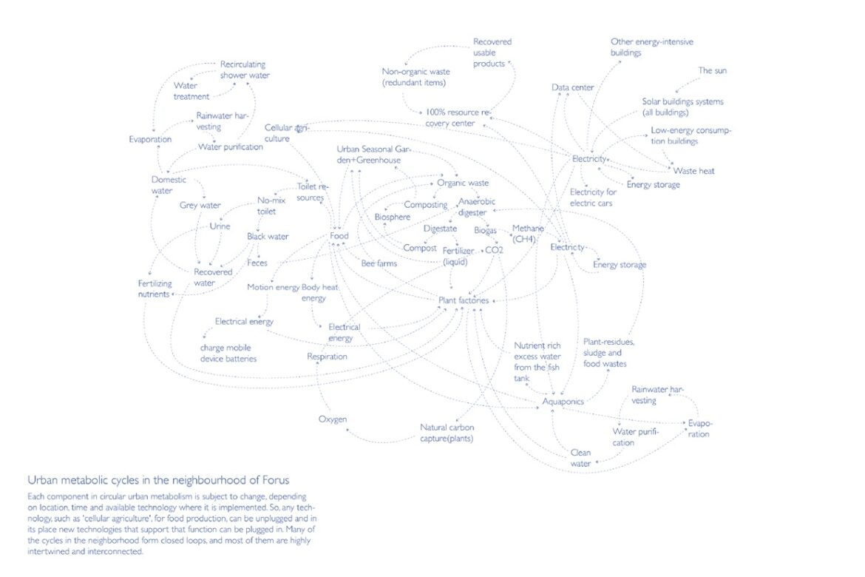 Urban metabolic cycles in the neighbourhood of Forus